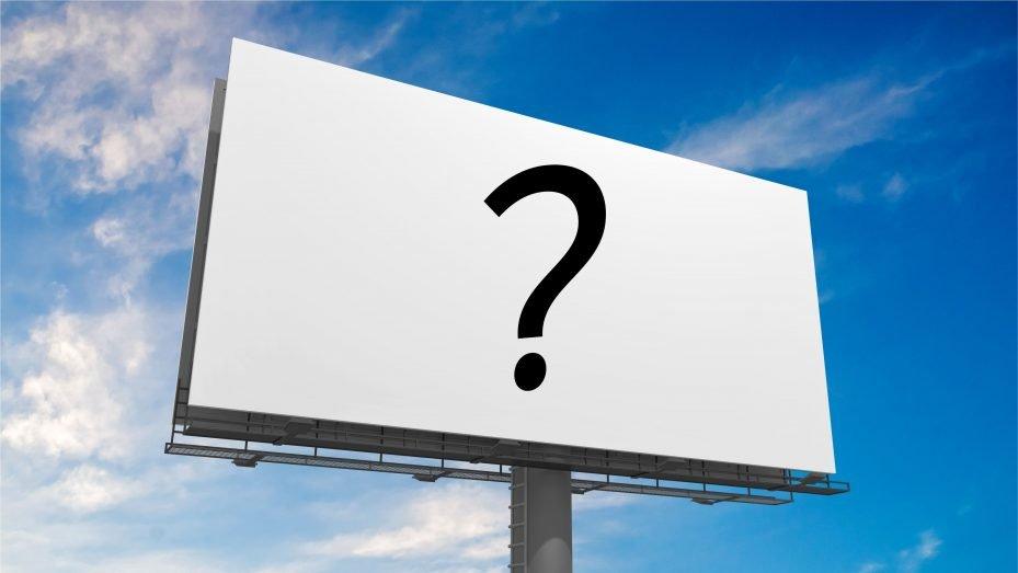 Outdoor com interrogação: como divulgar consultório odontológico?