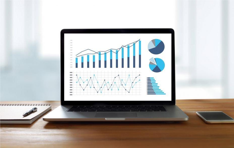 Gráfico indicador do desempenho da gestão de consultório