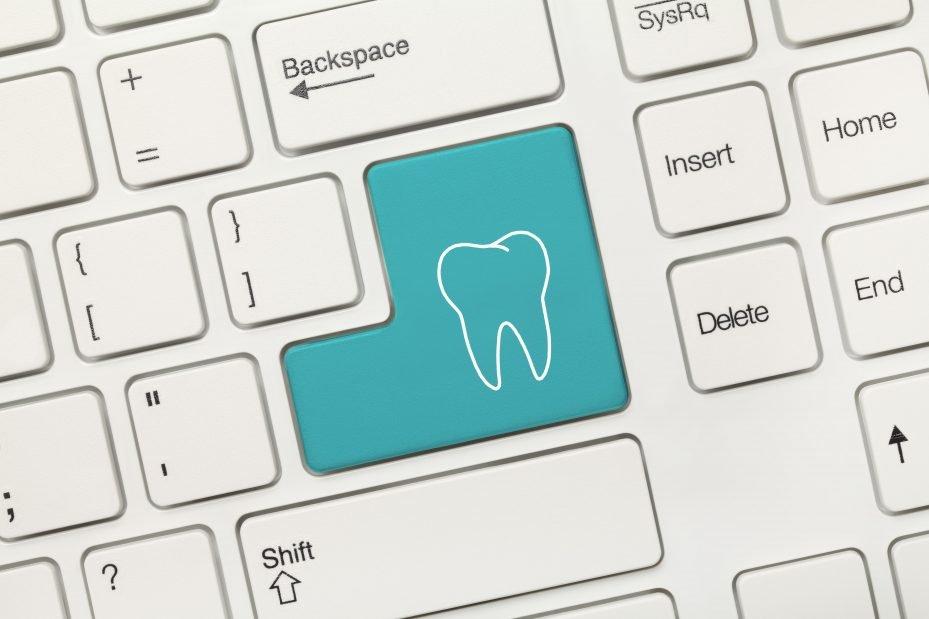 teclado de computador de programa para clínica odontológica